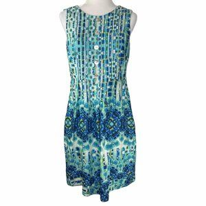 Rabbit Rabbit Rabbit Blue Batik Cotton Sun Dress
